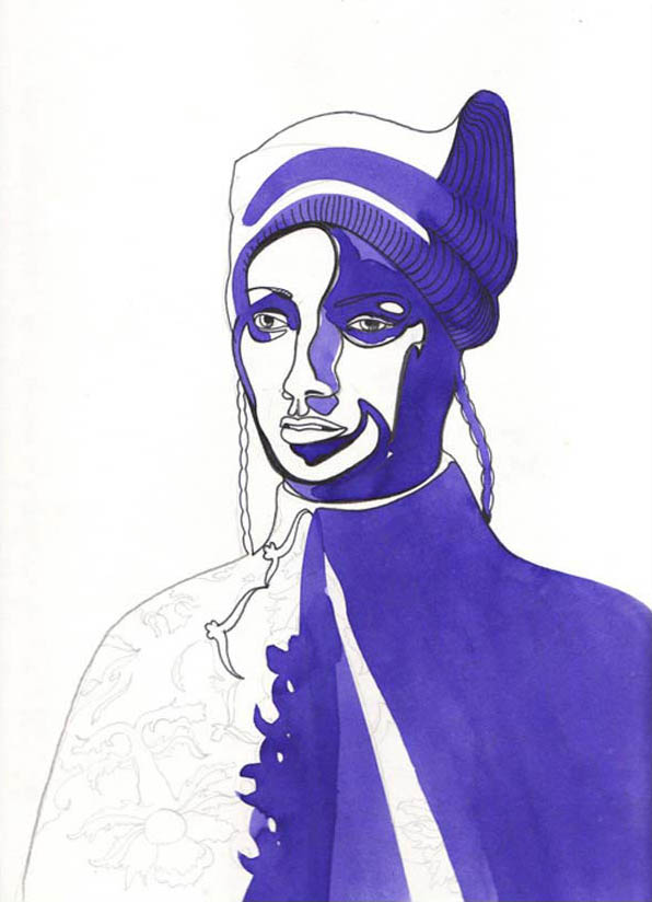 man-with-purple-hat photo